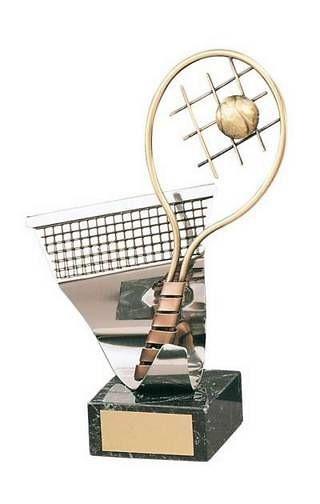 Trofeo tenis hecho a mano