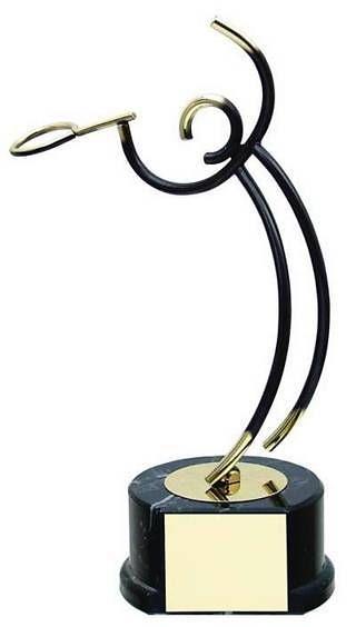 Trofeo tenis latón jugador