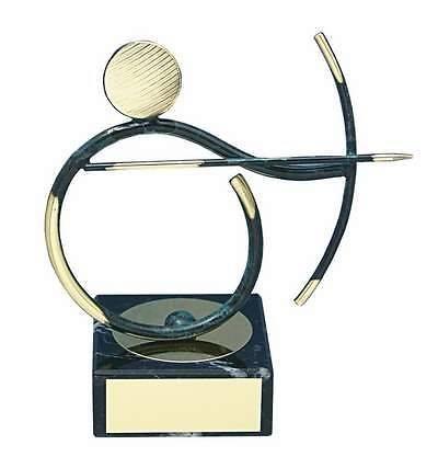 Trofeo tiro con arco latón