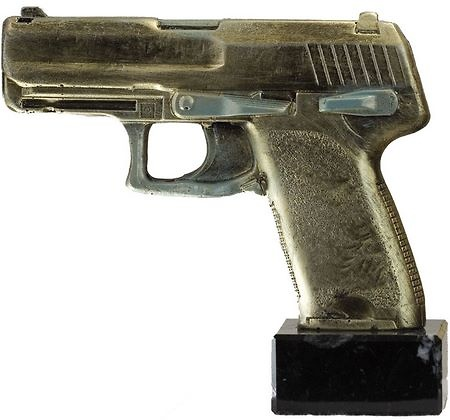 Trofeo tiro de pistola