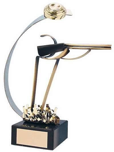 Trofeo tiro escopeta plato artesanal