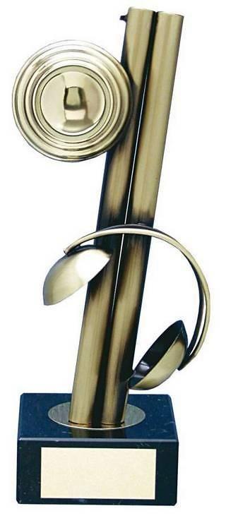 Trofeo tiro escopeta plato hecho a mano