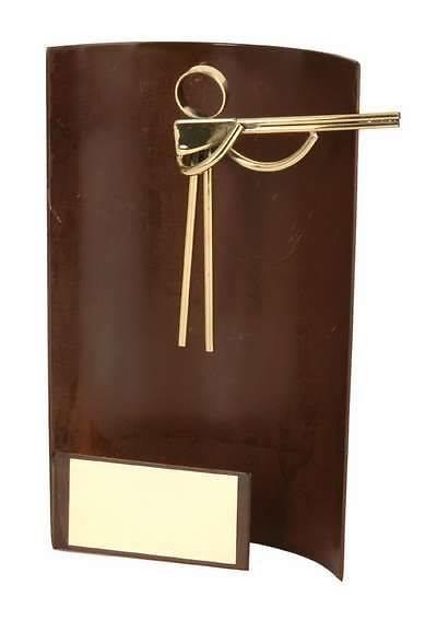 Trofeo tiro escopeta rectangular sin peana