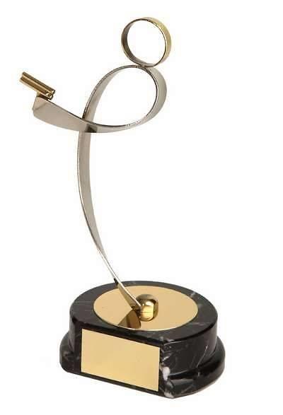 Trofeo tiro pistola tirador dorado