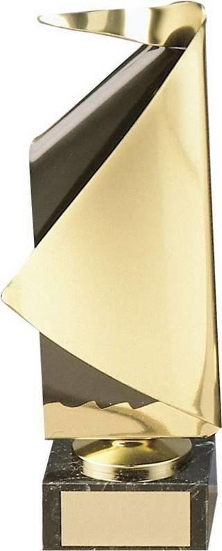Trofeo vela latón dorado