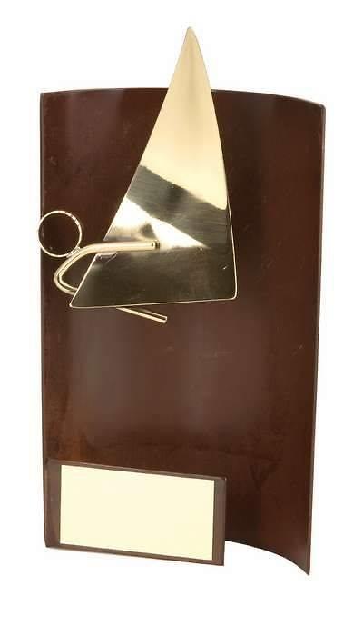 Trofeo vela rectangular