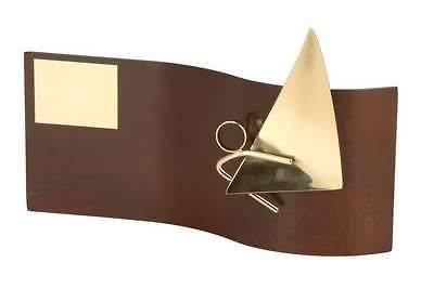 Trofeo vela rectangular ondulado