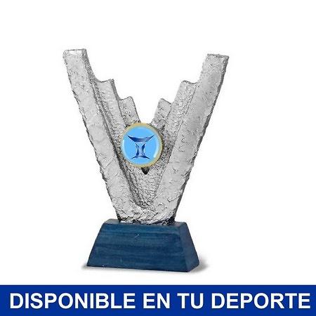 Trofeo victoria peana azul portadiscos