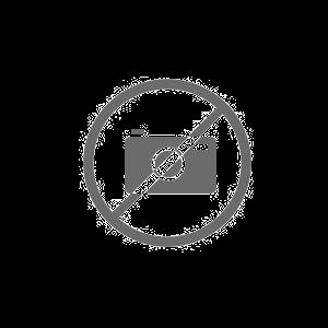 Cinta de medalla en color azul y blanco.