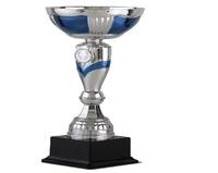 Copa Blondie plateada y Azul