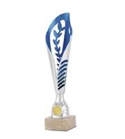Copa Ossly Ramitos y Disco azul y plata