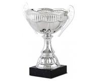Copa Torreon con campana en forma de tulipan plateado