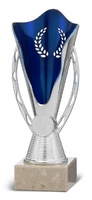 Copa Urique plateada con disco deportivo