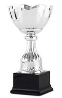 Copa plateada con campana redondeada y gallones Mestary