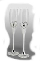 Copas de Cristal con corazón para celebraciones modelo Luvianos