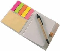 Libreta Saviñao con post-its y bolígrafo