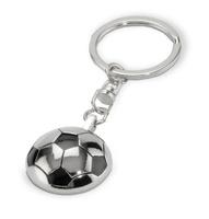 Llavero balón de futbol plateado