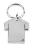 Llavero camiseta plateada