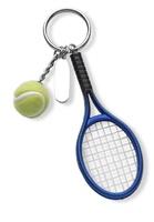 Llavero con raqueta y pelota a color