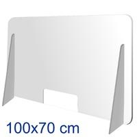 Mampara metacrilato 100 cm x 70 cm pie alto