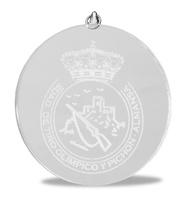 Medalla Deportiva de cristal redonda para grabacion laser o todo color