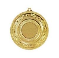 Medalla Deportiva en 60 mm Ø motivo hojas con disco