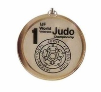 Medalla Puebla cristal de 60 x 6 mm Ø