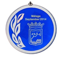Medalla Puentenuevo cristal de 70mm Ø