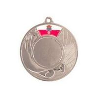 Medalla deportiva Pergamino de 50 mm Ø disco deportivo y bandera de autonomía