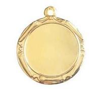 Medalla deportiva con diámetro 34 mm personalizable con disco deportivo