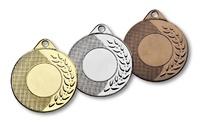 Medalla metalica ramo y punteado toscanas