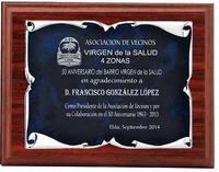 Placa Achlys Homenaje de Aluminio Plateada