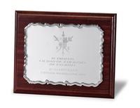 Placa Aspasia Conmemorativa de Alumino Plateada