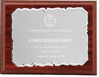 Placa Aspasia Homenaje de Alumino Plateada