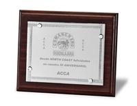 Placa Axelia Homenaje de Aluminio Plateada