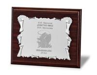 Placa Celandia Homenaje de Aluminio Plateada