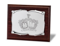 Placa Eudocia Homenaje de Aluminio Plateada