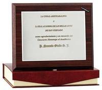 Placa Homenaje Ariadne Plata de Ley con Estuche