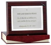 Placa Homenaje Aricia Plata de Ley con Estuche