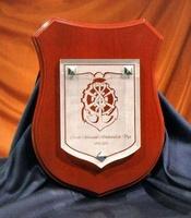 Placa Homenaje Bushongo Cristal