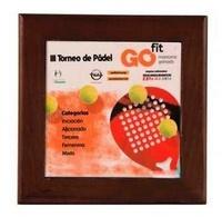 Placa Trofeo para personalizar a todo color soporte de madera