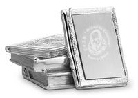 Placa con forma de libro plateado modelo Jalieza