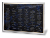 Placa conmemorativa Aretha de Exterior