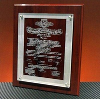 Placa conmemorativa Bulahay Cristal