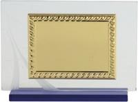 Placa conmemorativa Mini en dorado