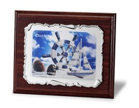 Placa conmemorativa aluminio pergamino a color lopsidy