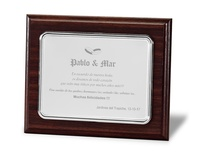 Placa conmemorativa aluminio rectangular lisa mate y brillo