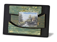 Placa conmemorativa en resina efecto madera a color