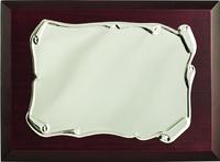 Placa conmemorativa pergamino brillo estampada