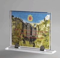 Placa de cristal optico transparente grabacion color mondy